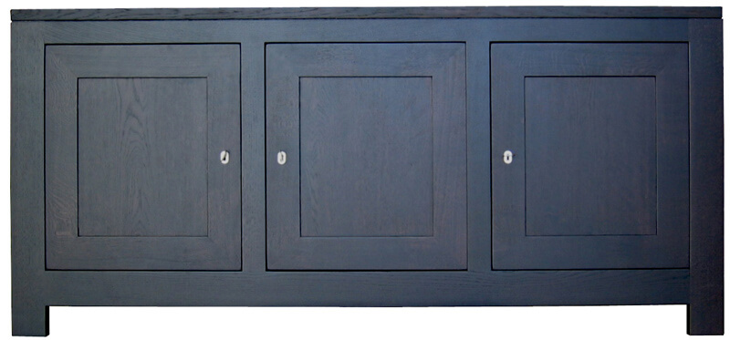 buffet 3 portes ch ne weng noir bois 100 massif. Black Bedroom Furniture Sets. Home Design Ideas