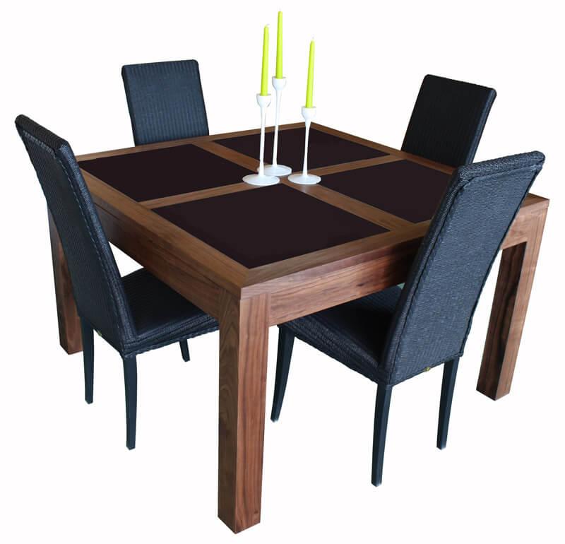 table bois corian. Black Bedroom Furniture Sets. Home Design Ideas