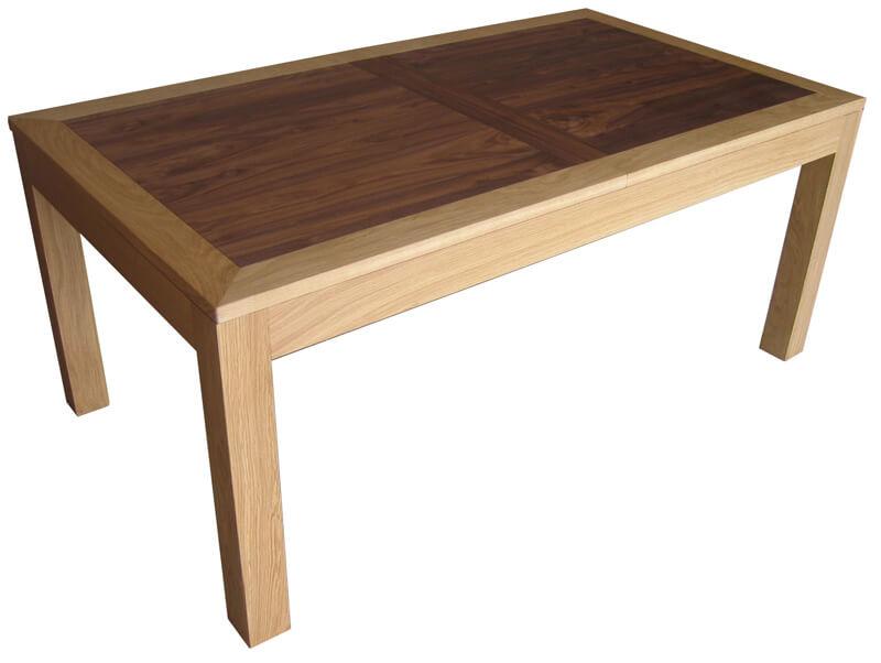 table repas rectangulaire 2 allonges ch ne flott corian blanc. Black Bedroom Furniture Sets. Home Design Ideas