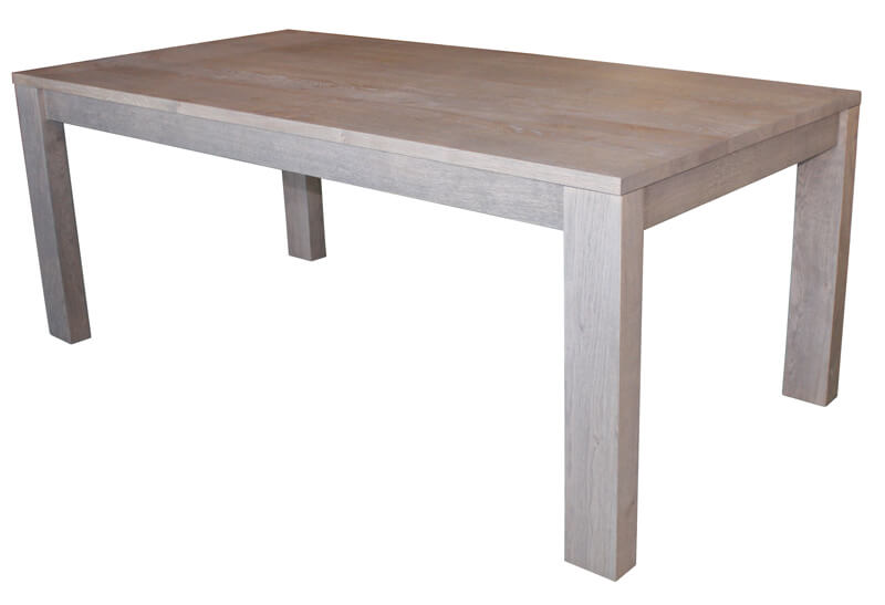 Table repas rectangulaire 1 allonge en bout ch ne for Bois flotte blanchi