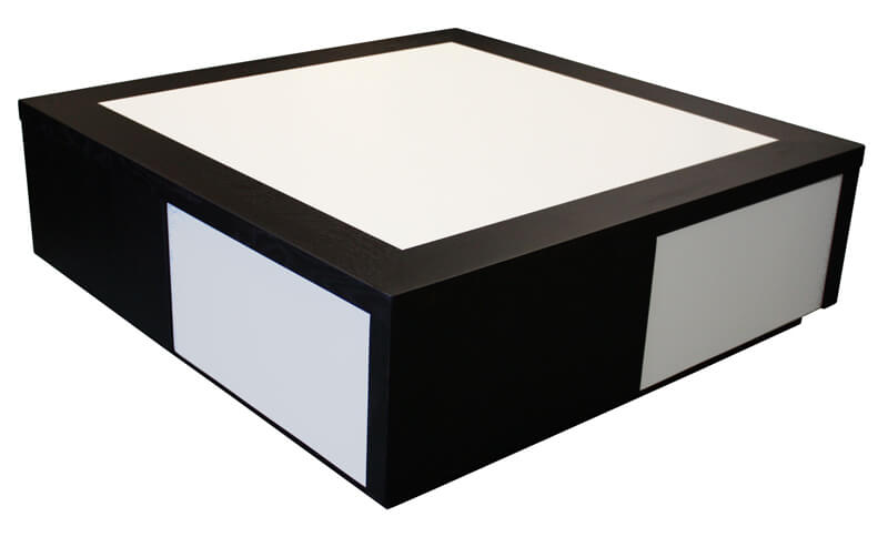 Table basse weng 4 poufs blanc pictures to pin on pinterest - Table basse noir et blanc pas cher ...