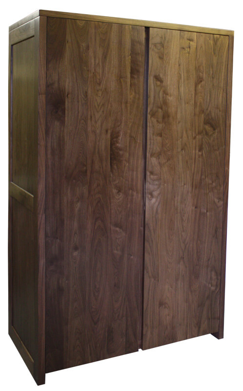 armoire 2 portes noyer naturel bois 100 massif. Black Bedroom Furniture Sets. Home Design Ideas