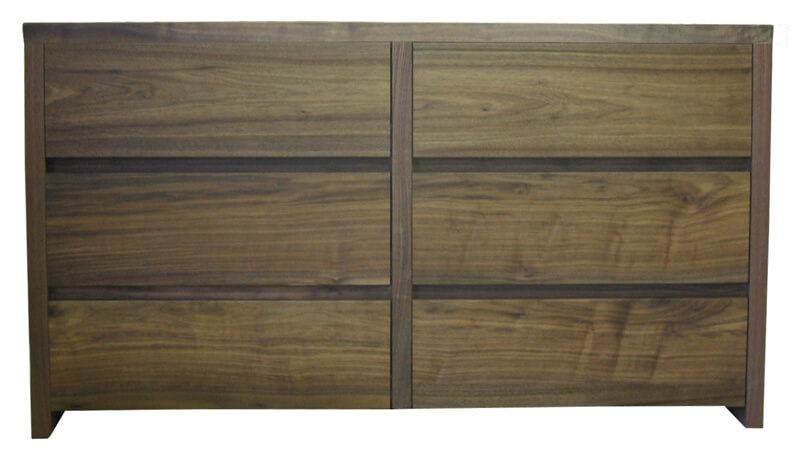 commode 6 tiroirs ch ne gris bois massif laqu tourterelle. Black Bedroom Furniture Sets. Home Design Ideas