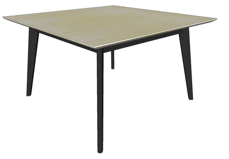Table bois gris extensible for Table extensible gris et bois