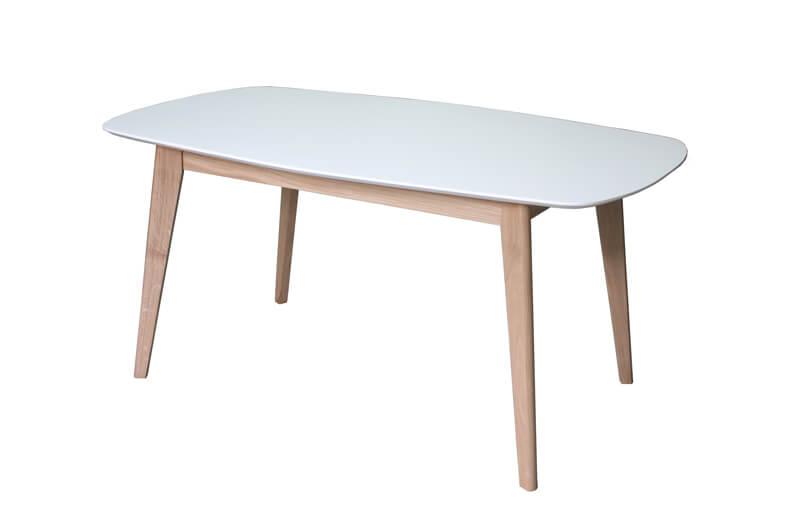 Table de repas vintage ovale tonneau dessus ch ne for Table ovale chene massif
