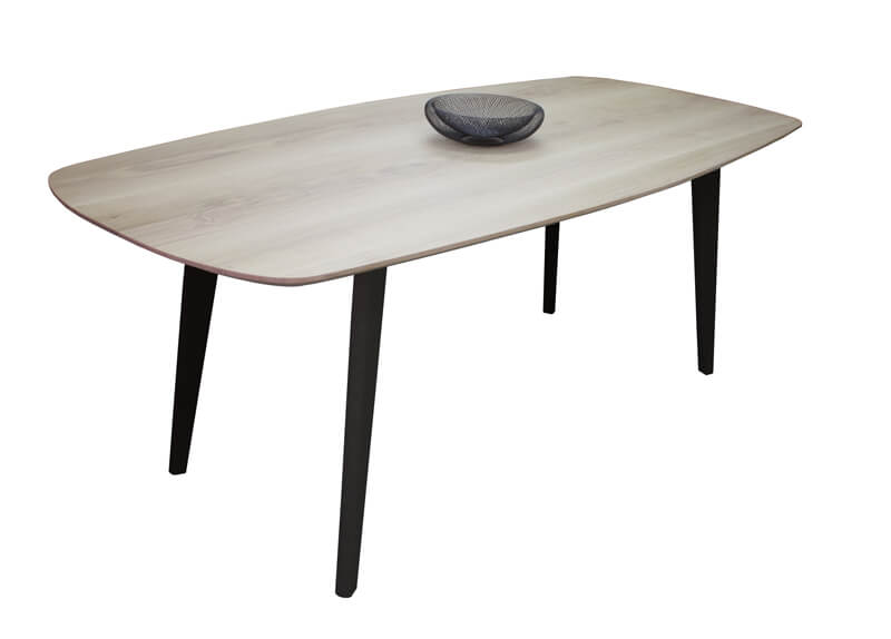 Table de repas vintage ovale tonneau dessus ch ne for Table de chevet malm chene blanchi