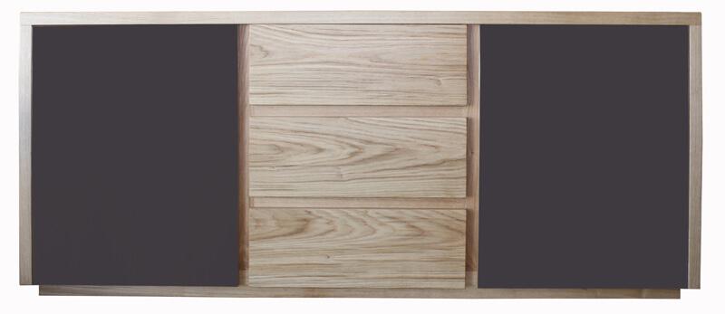 buffet noir et bois elegant buffet noir et bois with. Black Bedroom Furniture Sets. Home Design Ideas