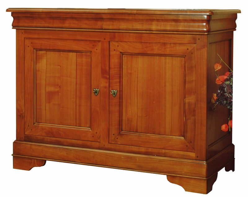 buffet 2 portes 2 tiroirs en doucine louis philippe merisier d corateur bois 100 massif. Black Bedroom Furniture Sets. Home Design Ideas