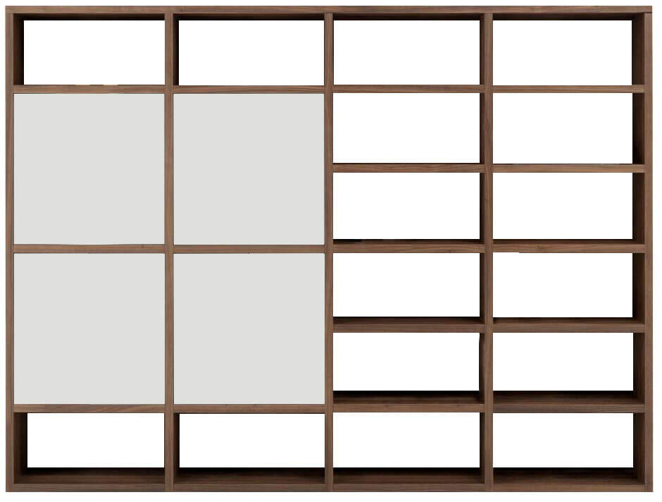 composition murale biblioth que bas 3 tiroirs milieu 4. Black Bedroom Furniture Sets. Home Design Ideas
