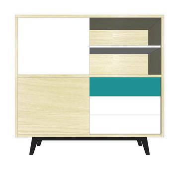 buffet contemporain en bois massif et laque standard ou sur mesure. Black Bedroom Furniture Sets. Home Design Ideas