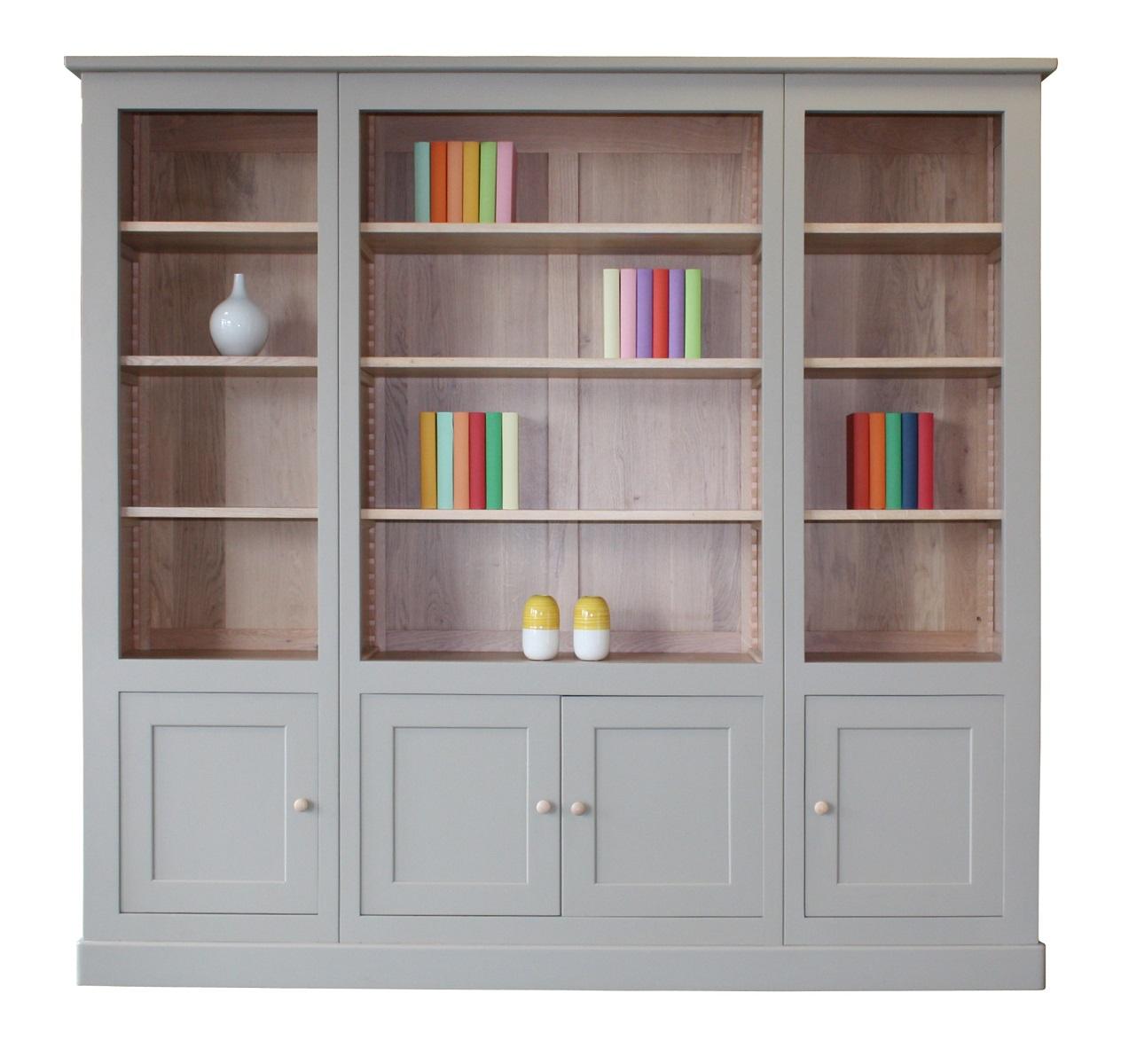 Biblioth que ch ne blanchi et laqu gris - Pirotais meubles ...