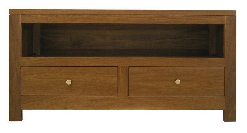 12240 Buffet TV 2 tiroirs 1 niche Noyer naturel