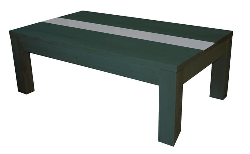 Table basse 2 tiroirs dessus bois de fil ch ne cendr Table basse noyer gris