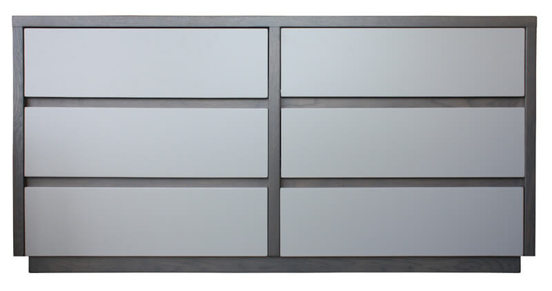 Commode 6 tiroirs grise - Pirotais meubles ...