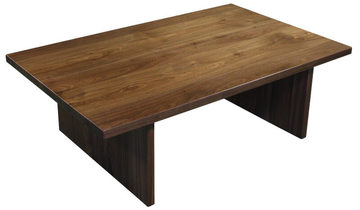 22564 Table basse Noyer naturel - bois 100% massif