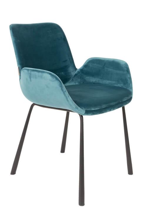 fauteuil design en velours bleu canard et pieds m tal. Black Bedroom Furniture Sets. Home Design Ideas
